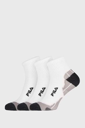 3 PACK bijelih čarapa FILA Multisport