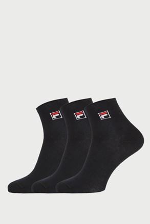 3 pack crnih čarapa do gležnja FILA