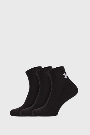 3 PACK crnih čarapa Core Under Armour