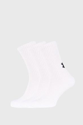 3 PACK visokih bijelih čarapa Core Under Armour