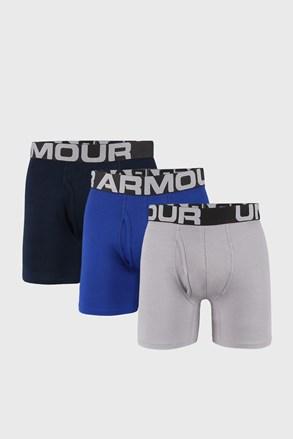 3 PACK plavo-sivih bokserica Under Armour Cotton