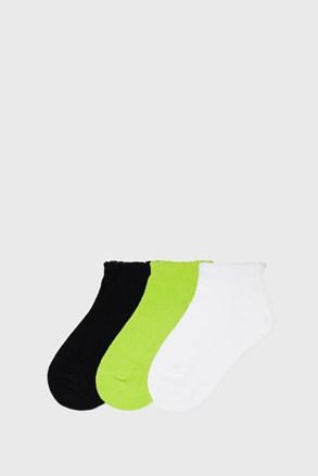 3 PACK niskih čarapa za djevojčice Mayoral Limeta