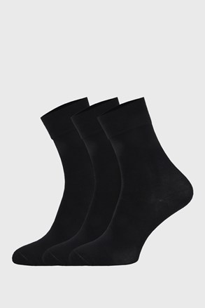 3 PACK crnih sportskih čarapa