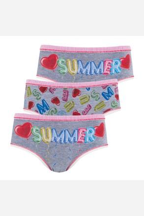 3 pack gaćica za djevojčice Summer