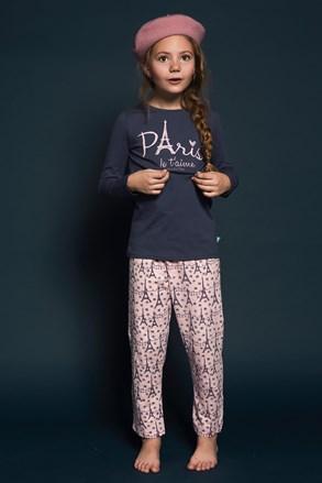 Pidžama za djevojčice Paris kratka
