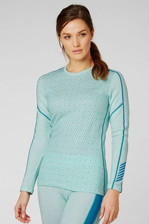 Ženska plava funkcionalna majica Helly Hansen Lifa Merino
