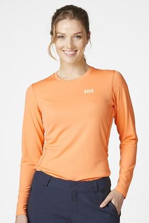 Narančasta majica s dugačkim rukavima Helly Hansen