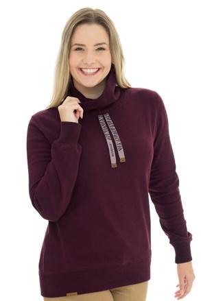 Ženska majica s kapuljačom u boji vina Bushman Yvette