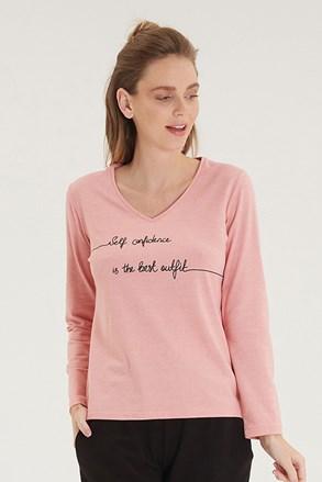 Ženska ružičasta majica dugih rukava