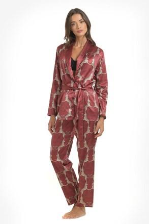Pidžama od satena Leopard