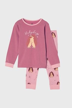 Pidžama za djevojčice Hedgehog hugs