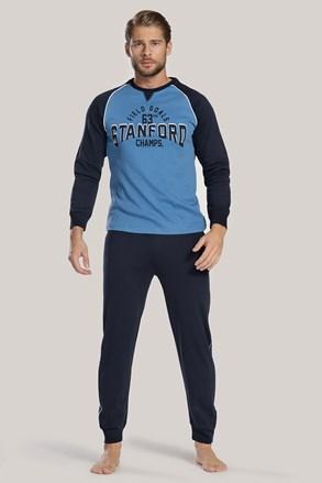 Muška pidžama tamno plava s natpisom I