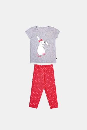 Pidžama za djevojčice Buny sivo-narančasta