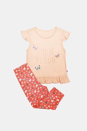 Pidžama za djevojčice Lila narančasta