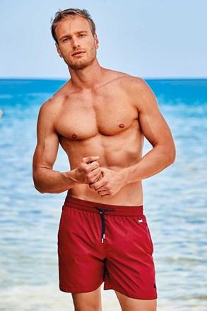 Crvene kupaće hlače Basic PLUS SIZE