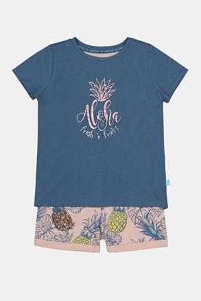 Pidžama za djevojčice Aloha Pineapple