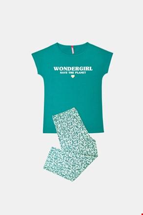 Pidžama za djevojčice Save planet zelena