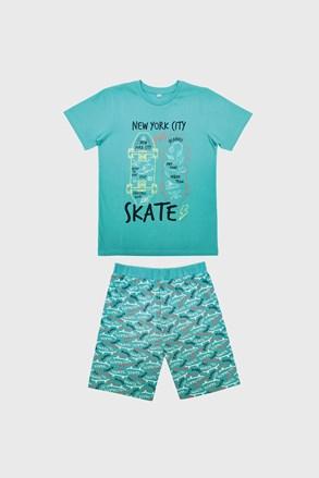 Pidžama za dječake Skate svjetloplava