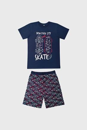 Pidžama za dječake Skate tamnoplava