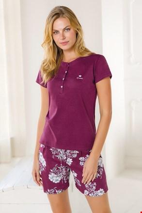 Ženski kratki komplet pidžame u boji vina