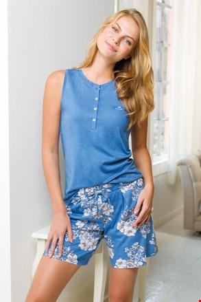 Ženski kratki komplet pidžame plavi