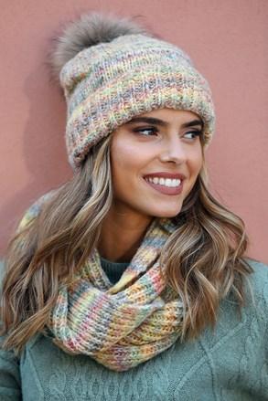 Ženska kapa Gaja s dodatkom vune
