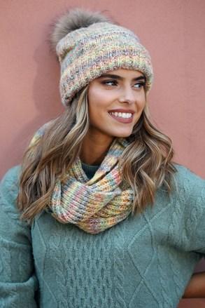 Ženski šal Gaja s dodatkom vune