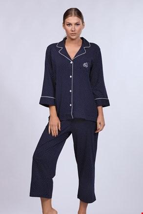Ženska pidžama Ralph Lauren Navy Dot
