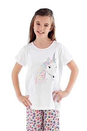 Pidžama za djevojčice Polly dugačka bijela