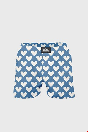 Plave bokserice ELKA LOUNGE na srca