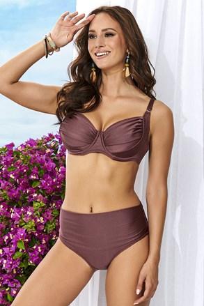 Ženski dvodijelni kupaći kostim Alette smeđi