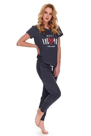 Pidžama za trudnice i dojilje Best mom siva