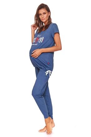 Pidžama za trudnice i dojilje Best mom plava