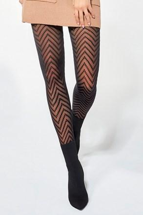 Čarape s gaćicama Sonia 30 DEN s uzorkom