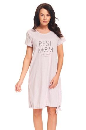 Spavaćica za trudnice i dojilje Best Mom Pink