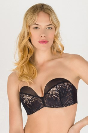 Grudnjak Wonderbra Ultimate Strapless bardot Double Push-Up bez žica sa čipkom