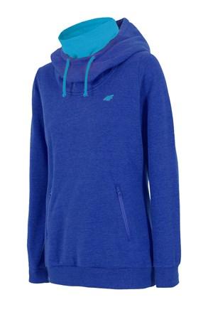 Ženska sportska majica 4F s ovratnikom plava