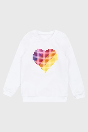 Gornji dio trenirke za djevojčice Love hearts