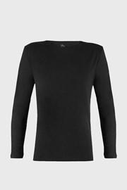 Crna majica dugačkih rukava Cotton Nature