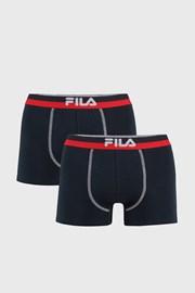 2-pack tamnoplave bokserice s crveno-plavom trakom FILA