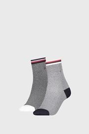 2 PACK ženskih čarapa Tommy Hilfiger Honeycomb Navy