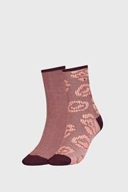 2 PACK ženskih smeđih čarapa Tommy Hilfiger Flower