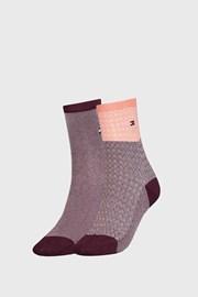 2 PACK ženskih čarapa Tommy Hilfiger Argyle II