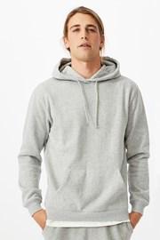 Siva majica s kapuljačom Essential Fleece