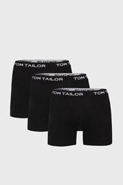 3 PACK duljih crnih bokserica Tom Tailor