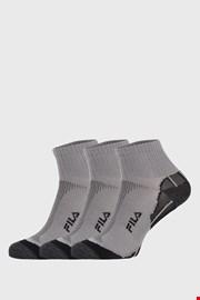 3 PACK sivih čarapa FILA Multisport
