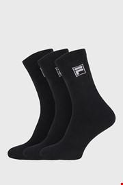 3-pack crnih visokih čarapa s logom FILA