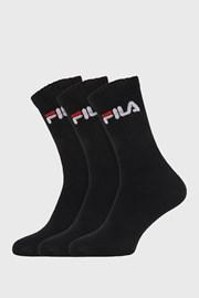 3 pack crnih visokih čarapa FILA