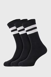 3 PACK crnih čarapa Active