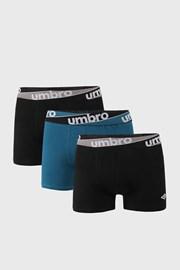 3 PACK plavo-crnih bokserica Umbro